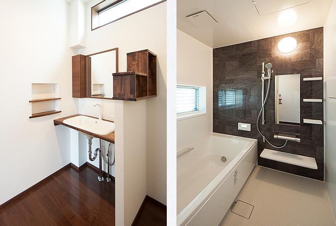 洗面脱衣室とお風呂