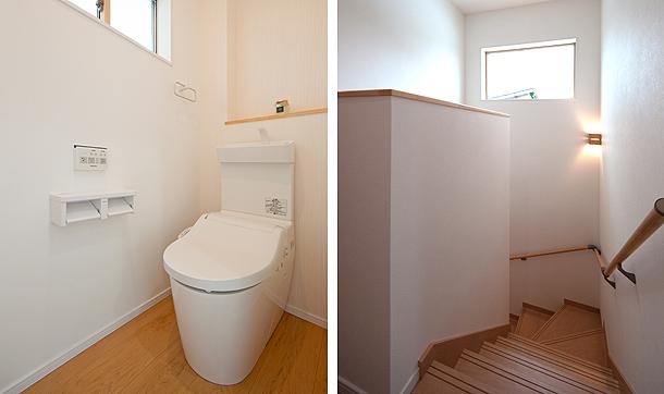 トイレと階段