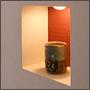 和室のアクセントとなる飾り棚