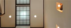 オリジナル照明 建築白石の職人技のひとつ。お部屋の雰囲気にあわせて照明もつくります。 和室の照明やリビング、寝室の素敵な間接照明などのご相談も承ります。